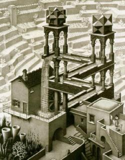 Optische illusie van Escher