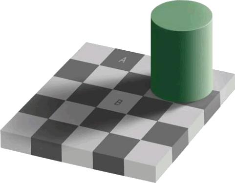 Optische illusie: vierkant